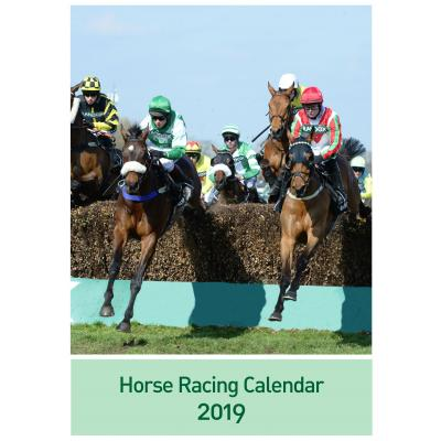 12 Page A3 Horse Racing Calendar 2019 image